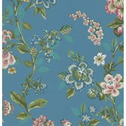 PiP Studio Tapet Botanical Print Bright blue