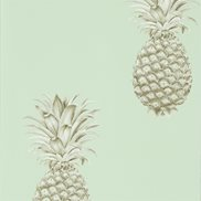 Sanderson Tapet Pineapple Royale Porcelain/Sepia