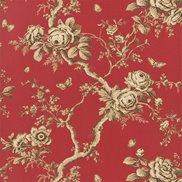 Ralph Lauren Tapet Ashfield Floral Balmoral Red