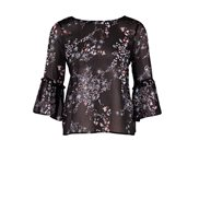 Saint Tropez Blus Flower Black