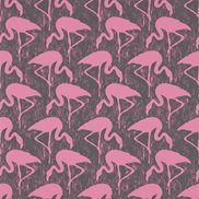 Sanderson Tapet Flamingos Charcoal/Pink