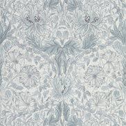 William Morris & Co Tapet Pure Honeysuckle & Tulip Cloud grey