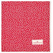 GreenGate Tygservett/Brödkorgsduk Dot Red