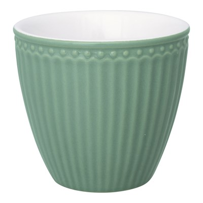 GreenGate Lattemugg Alice Dusty Green