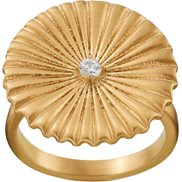 Edblad Ring Crinkle Matt Gold