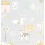 Majvillan Tapet My farm Soft grey