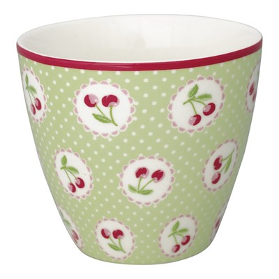 GreenGate Lattemugg Cherry Berry Green