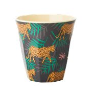 Rice Mugg Leopard and Leaves Medium