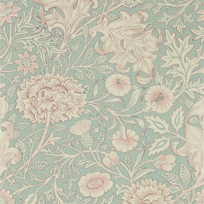 William Morris & Co Tapet Double Bough Teal Rose