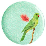 Rice Tallrik Vintage Bird Green 26 cm