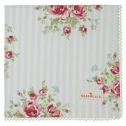 GreenGate Tygservett/Brödkorgsduk Nellie Pale blue