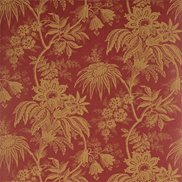 Sanderson Tapet Jacobean Toile Red/Toffee