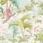 PiP Studio Tapet Palm Scene White