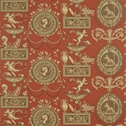 Sanderson Tapet Roman Toile Red/Chocolate/Beige