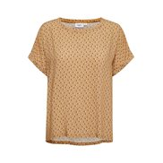 Saint Tropez Top Amelia Leaves Dot Tan
