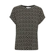 Saint Tropez Top Amelia Leaves Dot Black