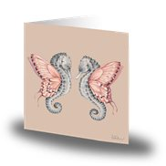 Cards by Jojo Kort Winged Seahorses