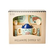 Rice Presentkit Melamin Djungle Animals Blue