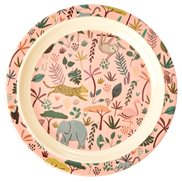 Rice Tallrik Djungle Animals Pink