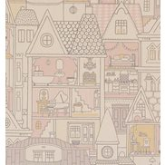 Majvillan Tapet Dollhouse Wool White
