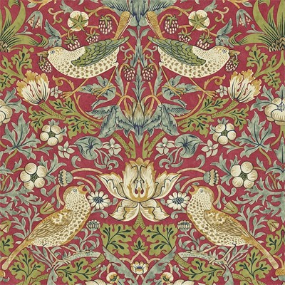 William Morris & Co Tapet Strawberry Thief Crimson/Slate