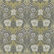 William Morris & Co Tapet Honeysuckle & Tulip Carcoal/Gold