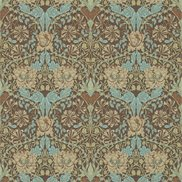 William Morris & Co Tapet Honeysuckle & Tulip Taupe/Aqua