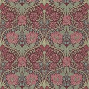William Morris & Co Tapet Honeysuckle & Tulip Burgundy/Sage