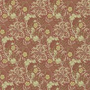William Morris & Co Tapet Morris Seaweed Red/Gold