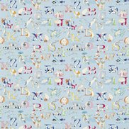 Sanderson Tyg Alphabet Zoo Powder Blue