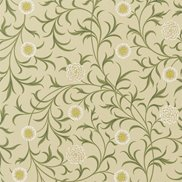 William Morris & Co Tyg Scroll Loden/Thyme
