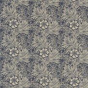 William Morris & Co Tyg Marigold Indigo/Linen
