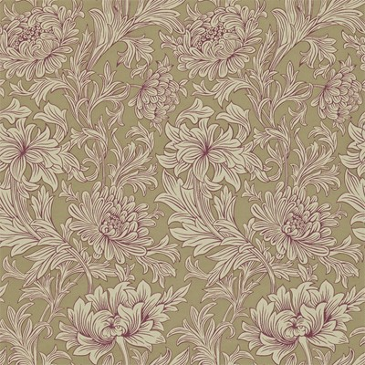 William Morris & Co Tapet Chrysanthemum Grape/Bronze