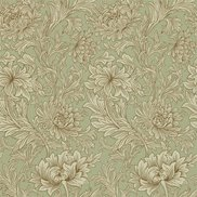William Morris & Co Tapet Chrysanthemum Eggshell/Gold