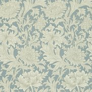 William Morris & Co Tapet Chrysanthemum Toile China Blue/Cream