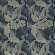 William Morris & Co Tyg Acanthus Tapestry Indigo/Mineral
