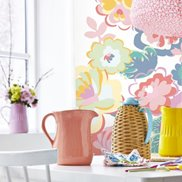 Rice Tapet / Väggbild English Country floral dream Off White