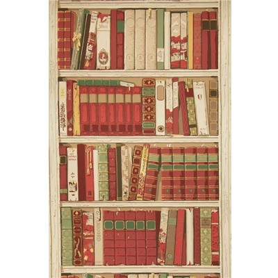 Brunschwig & Fils Tapet Bibliotheque Red/Burgundy