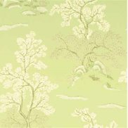 GP & J Baker Tapet Oriental Tree Soft Green