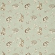 Sanderson Tyg Squirrel & Hedgehog Seaspray/Charcoal
