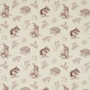 Sanderson Tyg Squirrel & Hedgehog Walnut/Linen