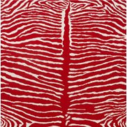 Brunschwig & Fils Tapet Le Zebre Red